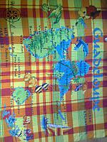 Легкое шелковое парео  (платок на шею) с экзотическими птицами
