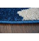 Ковер SKETCH  120 см круглый - FA68 голубой белый - звезды, фото 4
