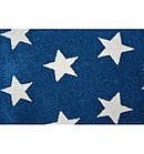 Ковер SKETCH  120 см круглый - FA68 голубой белый - звезды, фото 5