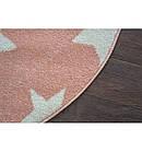 Ковер SKETCH  120 см круглый - FA68 розовый/кремовый - звезды, фото 3