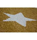 Ковер SKETCH  120 см круглый - FA68 желтый/кремовый - звезды, фото 3