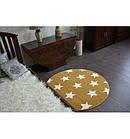 Ковер SKETCH  120 см круглый - FA68 желтый/кремовый - звезды, фото 5