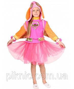 Костюм Скай 5,6,7,8,9 лет Детский карнавальный новогодний Щенячий патруль для девочек 343, фото 2