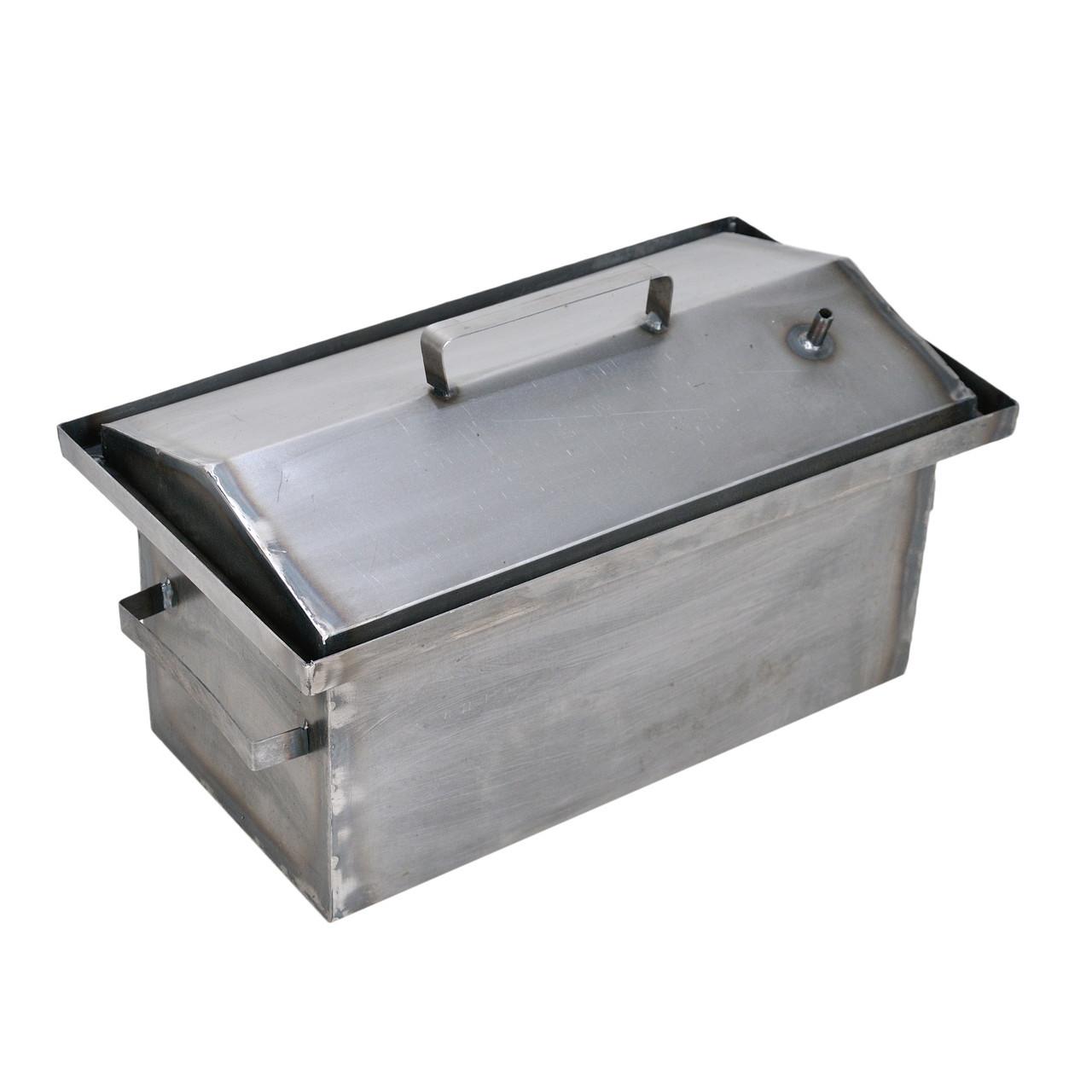 Коптильня гарячого копчення Гідрозатвор (РК-242545) (1,5 мм, 450х260х210мм)