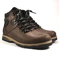 Коричневые ботинки большого размера мужские кожаные с влагозащитой на меху Rosso Avangard BS Indi Jone Brown, фото 1