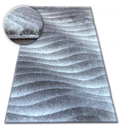 Ковер Shaggy SPACE 3D 80x150 см B222 серый