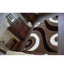 Ковер Shaggy SPACE 3D 80x150 см B314 светло-коричневый, фото 2