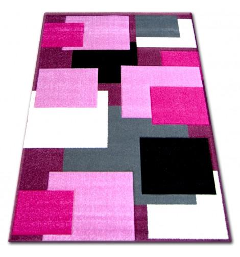 Ковер PILLY 100x200 см H202-8404 - пурпурный/розовый