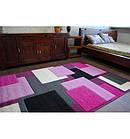 Ковер PILLY 100x200 см H202-8404 - пурпурный/розовый, фото 5