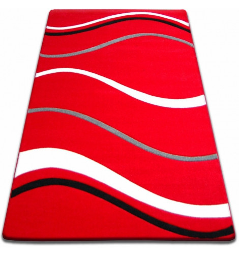 Ковер FOCUS - 8732 100x200 см красный линии