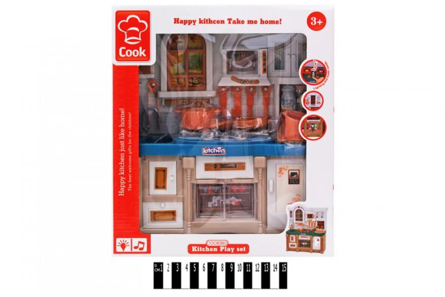 Игровой набор детская Кухня 3022, световые и звуковые эффекты