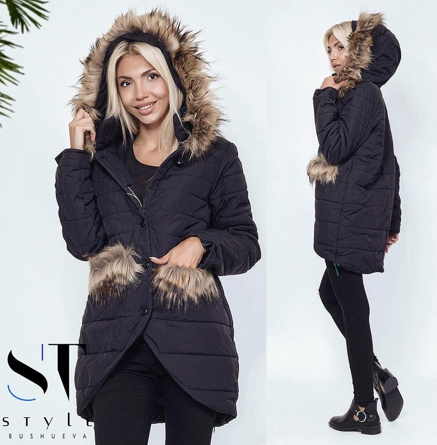 Зимняя куртка в стиле oversize