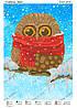Схема для вышивки бисером Совенок зима