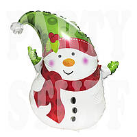 Фольгированный фигурный шарик Снеговик, 50 см