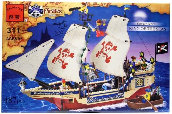 Конструктор BRICK 311 Пиратский корабль 487 детал
