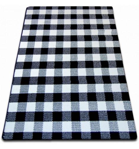 Ковер SKETCH 120x170 см - F759 белый черный - с узором