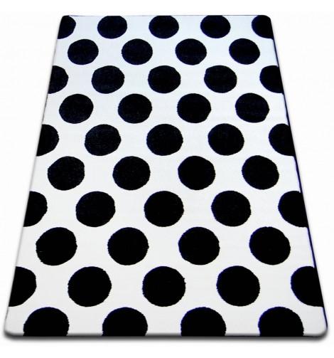 Ковер SKETCH 120x170 см - F761 белый черный - круги