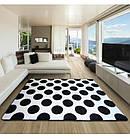 Ковер SKETCH 120x170 см - F761 белый черный - круги, фото 2
