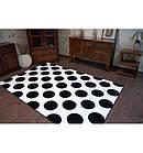 Ковер SKETCH 120x170 см - F761 белый черный - круги, фото 4