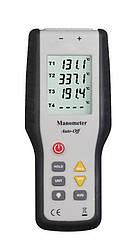 Четырёхканальный термометр Kronos Xintest HT-9815 (от -200 до +1372 °C) с термопарой К-типа (mdr_2685)
