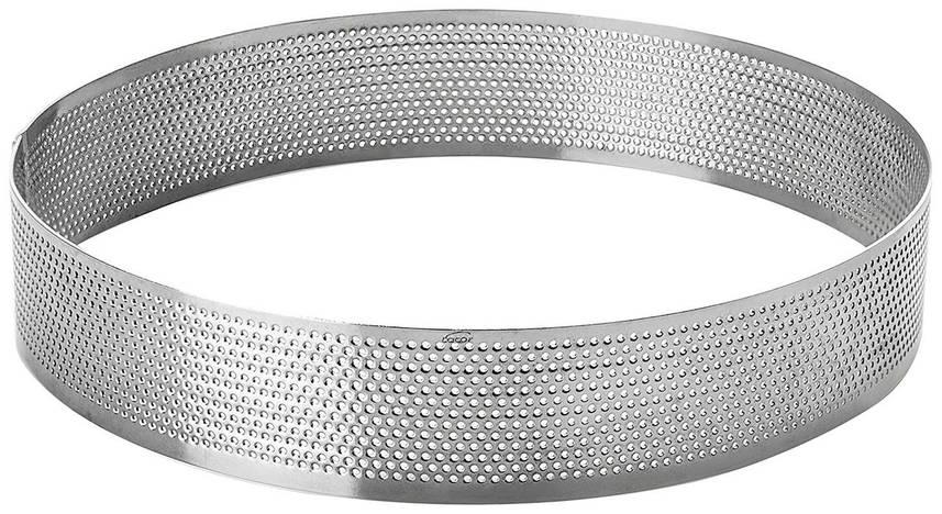 Форма без дна перфорированная 16х3,5 см. круглая, нержавеющая сталь Lacor