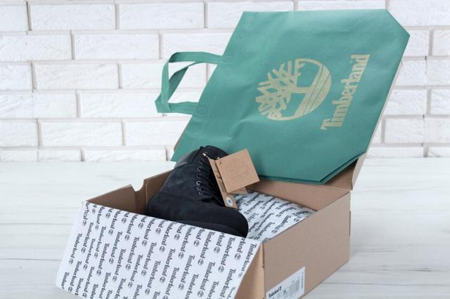 Женские зимние ботинки Timberland Classic Black натуральный мех фото