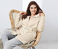 Шикарное теплое пальто для отдыха и дома с плюшем от тсм Tchibo (Чибо), Германия, размер укр 42-44, фото 1