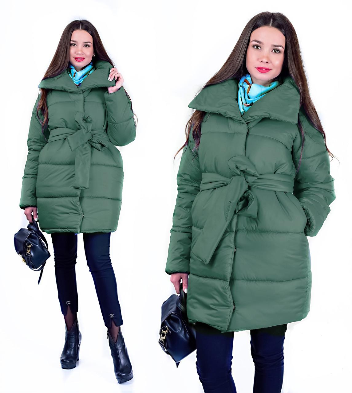 Куртка Nathalie жіноча зимова під пояс  продажа eafc75d7c691f