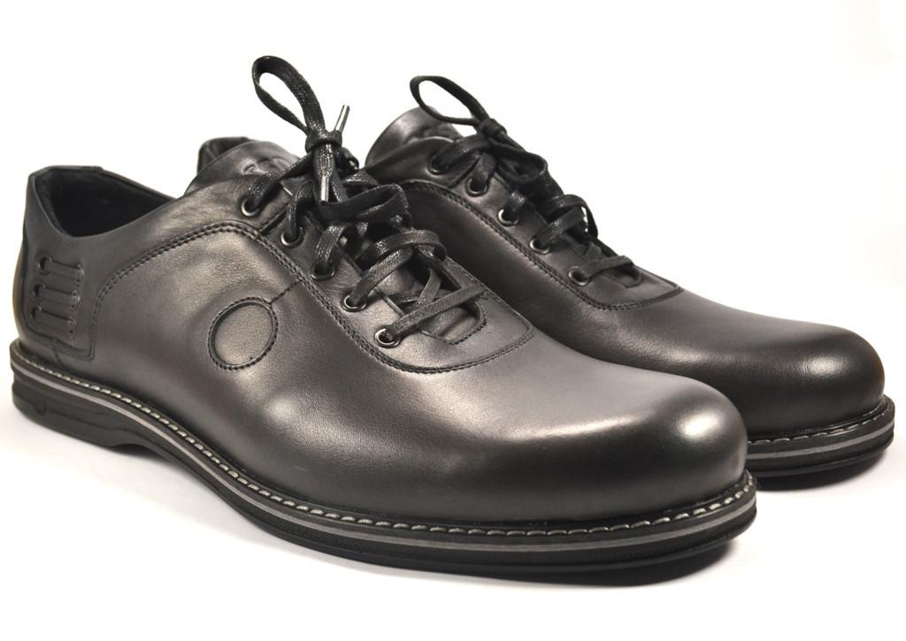 Туфли кожаные большой размер мужские облегченные черные демисезонные Rosso Avangard BS Prince Black Comfort