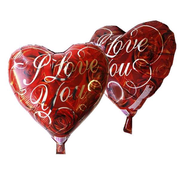 Фольгированный шар Josef Otten сердце I Love You 45х45см