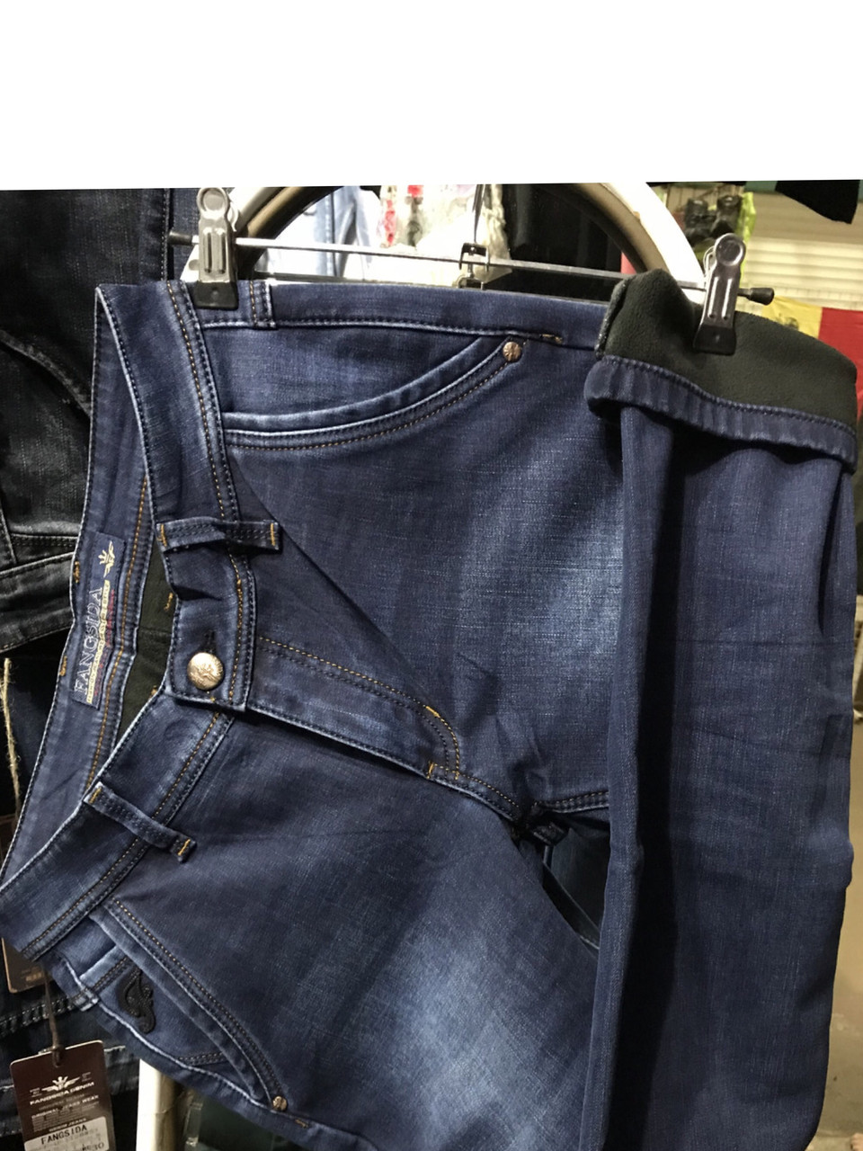 f9c7df0fa758 Тёплые мужские джинсы , косой карман .