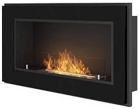 Біокамін Simple Fire Frame 900 чорний зі склом, фото 1