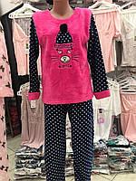 Турецкая  махровая женская пижама,Турция, размеры от 40 до 54