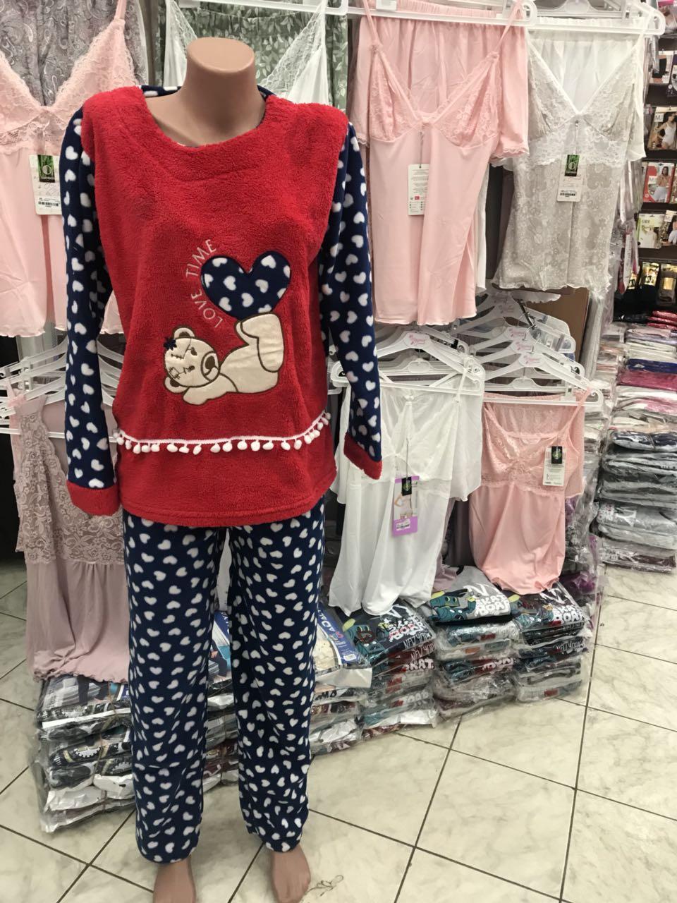 4d8a15a6ae0b Турецкая махровая женская пижама,Турция, размеры от 40 до 54 -  Интернет-магазин