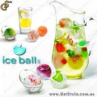 "Формочки для льда - ""Ice Balls"" - 4 шт., фото 1"