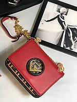Модная сумочка FENDI  Kan I красная (реплика), фото 1