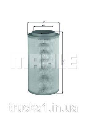 Фільтр повітряний Mercedes Actros LX1734 (MAHLE)