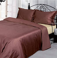 Двоспальне постільна білизна з бамбука коричневе 215х175