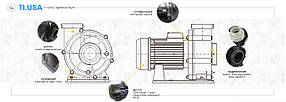 Насос AquaViva LX WTB400T/ZWE400T 80 м3/ч (5,5HP, 380В), для аттракционов (без префильтра), фото 3