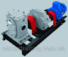 Насосная установка ДС-134 с насосом битумным ДС-125 редуктором 1ЦУ и электродвигателем битумная