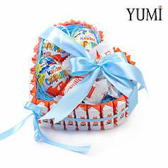Подарочный набор сладостей в форме сердца для любимого