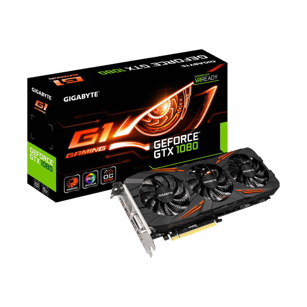 Видеокарта GIGABYTE GeForce GTX 1080 G1 Gaming (GV-N1080G1 GAMING-8GD) б.у. гарантия