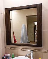 """Зеркало настенное """"Нант"""" 75х75х4см., дерево, орех"""