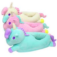 Тапочки-игрушки для кигуруми плюшевые единороги.