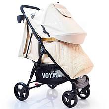 Детская прогулочная коляска книжка Quattro Porte QP-234 Biege