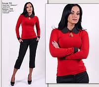 Теплая трикотажная блуза, фото 1