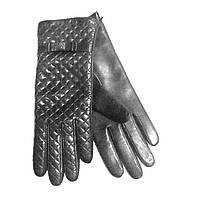 Перчатки женские кожаные Chanel черные