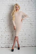 Шикарное платье, тёплое, мягкое.Высокое качество, состав: акрил, шерсть, размер 44-48, шесть цветов, код 6068К
