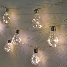 Декоративная гирлянда лампочки 10 LED, фото 2