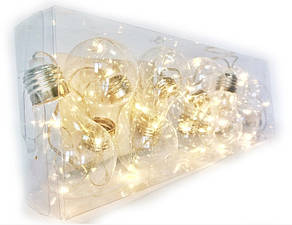 Декоративная гирлянда лампочки 10 LED, фото 3